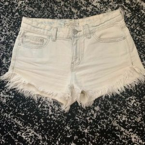 Free People Dolphin Cut Off Frayed Shorts 26